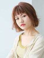 リランス バイ クララ(REONCE by CLALA)エアリーボブ × ミルクティーイヤリングカラー