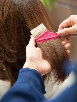 ヘアーサロン 謙 ジャパン(Hair Salon japan)の写真/◆ミルボンカラー使用◆仕上りの美しさがリピーター人気の秘密☆日本人の髪に合った艶感を表現します♪