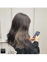 ヘアメイクミワ(HAIR+MAKE MIWA) dark silver×inner beige