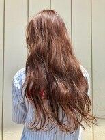 ヘア プロデュース キュオン(hair produce CUEON.)ほんのりオレンジカラー × ロング