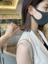 ヘアーアイスカルテット(HAIR ICI QUARTET)rena◯イヤリングカラー グレージュ 透明感カラー