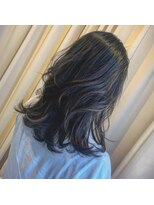 黒髪ハイライト