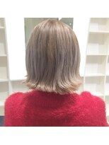 エゴヘアコレクション(EGO HAIR COLLECTION))ホワイティブリーチ☆切りっぱなしボブ