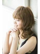 黒髪の【LINK esquisse】大人かわいいふわミディ☆画像