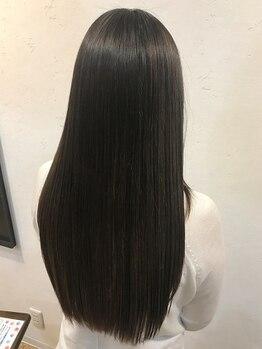 トラック ヘアー(TLUCK hair)の写真/お客様の髪に合わせて4種類の薬剤をブレンド☆TVでも紹介された《ビカクストレート》でサラ艶髪へ♪