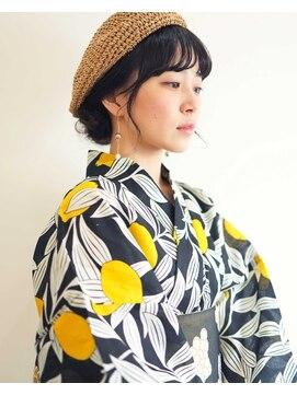ニコヘアー(niko hair)浴衣に似合うカジュアルアレンジ