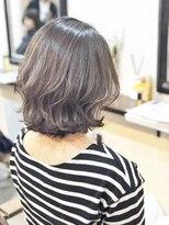 エトネ ヘアーサロン 仙台駅前(eTONe hair salon)【eTONe】切りっぱなしボブ×波ウェーブ