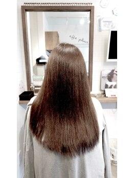 アフェプラス 樟葉店(affe+)の写真/従来のトリートメントとは違う、傷んだ髪を復元させる【復元髪質コントロールトリートメント】をスタート!