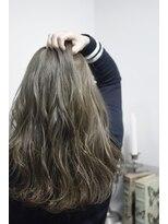 【miel hair blanc】スポンテニアス×グレージュカラー