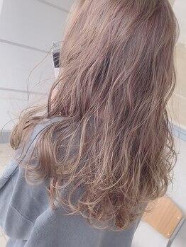 ヌル ヘア デザイン(nullus hair desigh)の写真/絶妙な抜け感を演出するnullusの透明感カラー♪ケアブリーチで痛みを軽減しつつハイトーンも可愛くお洒落に