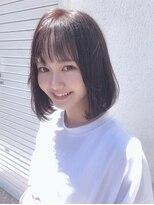 ドォート(Dote hair make)【林's】ピンクブラウン×ボブ シースルー前髪