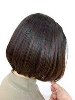 前下がりボブ/小顔/ダークカラー/ツヤ髪/髪質改善/40代50代60代