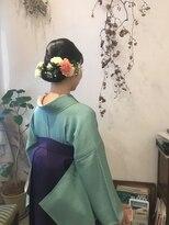 【MAULOA】 着物アレンジ 袴ヘア お呼ばれスタイル