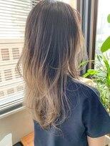 テトヘアー(teto hair)バレイヤージュ、グラデーションカラー、ブロンド