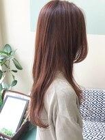 マテカ ヘアー(mateca hair)【mateca】ピンクベージュ×ロングウェーブ