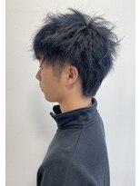 カイノ 三宮店(KAINO)ブルーブラックのヘアカラーにツイストパーマをMIXしたスタイル