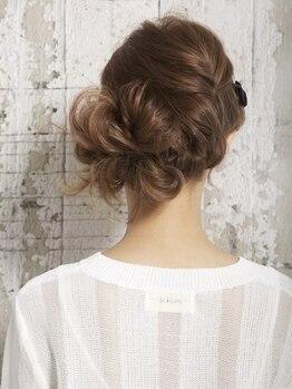 ヘアーリンク リアン(hair link Lien×if)の写真/≪早朝の予約もOK≫結婚式・お祝い事のヘアセットはバリエーション豊富な【hair link Lien×if】にお任せ☆