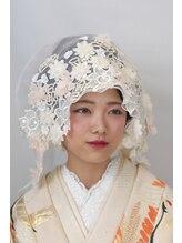 パリスパート2花嫁 レースの綿帽子は教会式でもピッタリ