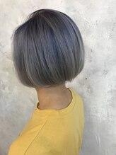 ヘア ラボ ニコ 藤沢店(hair Labo nico...)グラデハニーヘアマーメイドアッシュエフォートレス厚めバング