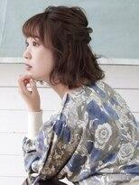 【AUBE HAIR】編み込み_ハーフアップ