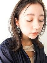 エイチスタンド 渋谷(H.STAND)アッシュブラウンクラシカル外ハネボブミディ[髪質改善/渋谷]