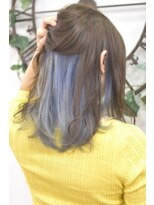 ヘアーサロン エール 原宿(hair salon ailes)(ailes原宿)style364 デザインカラー☆インナーブルー