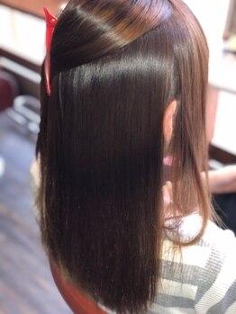 マルヘアデザイン 北巽の写真/《髪質改善》長年悩んでいた強いクセ毛の方でもキレイに♪施術後のダメージもほぼゼロで憧れの美髪が叶う☆