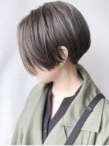 【morio 原宿】ハンサムショート 前髪なし 襟足刈り上げ