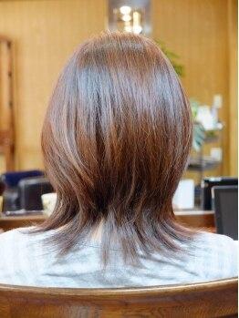 アシンプル(a Simple)の写真/従来のトリートメントでは行き届かない、髪の芯まで栄養が浸透☆キューティクルのある美しいスタイルへ…!