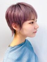 テトヘアー(teto hair)個性的 ショート ピンク ハイトーン 伸ばしかけ ayame