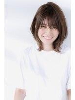 小顔ひし形☆外ハネボブ30代40代ネオウルフ☆スリークボブSC☆6