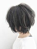 「tea」長谷川龍太 大人かわいい 小顔 ショートボブ ハイライト