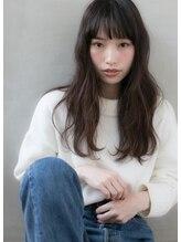 ソワ(soie)シースルーバング☆ナチュラルセミロング【soie】YUKI