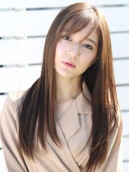 アース 上野店(HAIR&MAKE EARTH)の写真/上野★気になるクセ・うねり・広がりなどのお悩みをしっかり解消!柔らかな質感のナチュラルストレートに♪