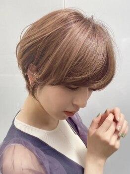 ネオリーブギンザ(Neolive GINZA)の写真/【カット+艶感カラー(白髪染めOK)¥7700】しっかり染まって透明感とツヤ感たっぷりな明るめの白髪染め♪