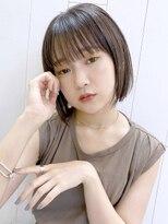 アルバム シンジュク(ALBUM SHINJUKU)ストレートボブ_カーキグレージュマッシュショート_38118