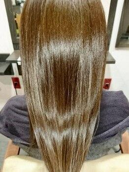 髪処あんの写真/理想のストレートスタイルをあなたの髪で実感。トリートメントと合わせていつでも指通り滑らかな髪に♪