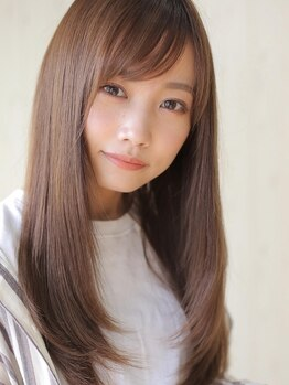 アグ ヘアー シャイン 富山市店(Agu hair shine)の写真/【縮毛矯正+カット¥8900】想像以上に柔らかな曲線美に。クセを伸ばす×360度綺麗なシルエットを両立!