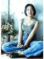 オゥルージュ(Au-rouge noma)【Au-rouge noma 柳瀬香里】暗髪のシンプルボブ