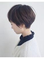エトワール(Etoile HAIR SALON)ハンサムショート/ベージュ/耳かけショート