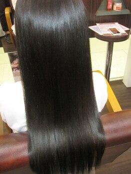 サイファー ヘアークリエイション(CIPHER Hair Creation)の写真/【縮毛矯正専門店】カラークセストパー(R)◆CUT+縮毛+カラー¥22880~でうる艶髪♪純金カラーと同時施術も◎
