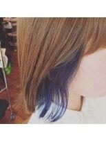 インナーカラー×ブルー