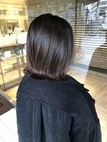 ヘアメイク シュシュ(Hair make chou chou)外ハネボブアッシュブラウンネオウルフ30代40代