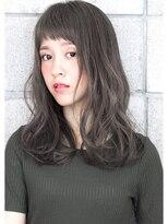 ヘアサロン ガリカ 表参道(hair salon Gallica)☆アッシュグレージュ×毛束感♪オン眉 小顔 ミディアムスタイル