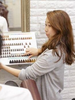 ルモ ヘアー 泉佐野ベイエリア店(Lumo hair)の写真/カウンセリングにこだわりあり♪「あなたの状態に合わせたケア」をご提案☆家でのスタイリングも簡単に◎