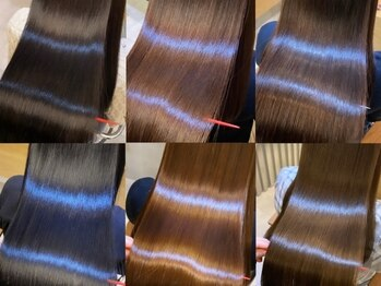 ジーナ 梅田(Zina)の写真/[#髪質改善#超音波アイロン]新感覚!話題の【酸熱トリートメント】で抜群の艶と潤いを実現♪