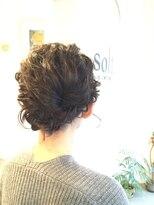 ソフトヘアカッターズ(soft HAIR CUTTERS)ヘッドスパもOK♪グレイカラーに大人可愛いヘアーアレンジ♪
