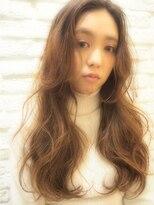 ミエルヘアーアンドスパ(miel hair&spa)◆miel◆ 大人かわいい ランダムカール ベージュカラー