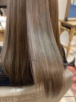 """エピローグ(epilogue)の写真/【西梅田】満足度の高いミネコラの髪質改善◎""""するん""""とまとまる柔らかい質感と今までにないサラ艶髪を実現"""