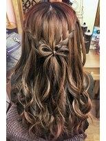 ヘアセットサロン アトリエ チャイ(Hair set salon atelier CHAI)プリンセス気分に♪ウォーターフォールリボンアレンジ